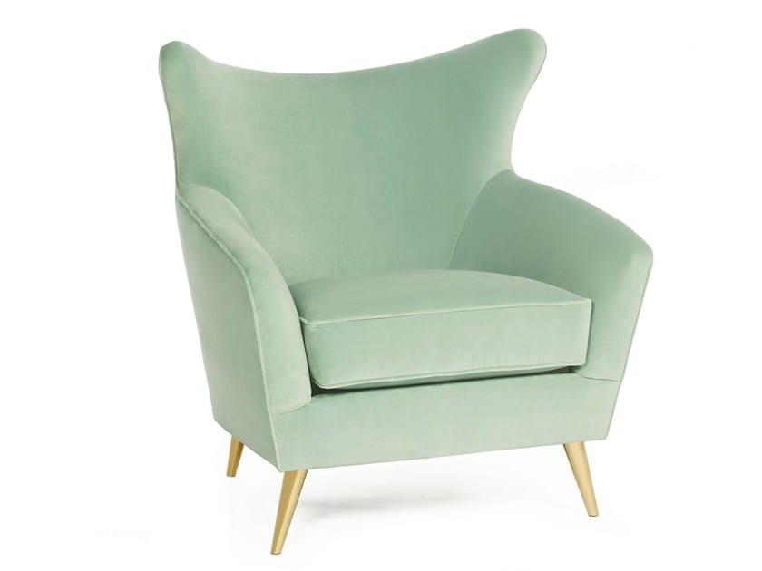 Upholstered velvet armchair SOPHIA | Armchair - Munna