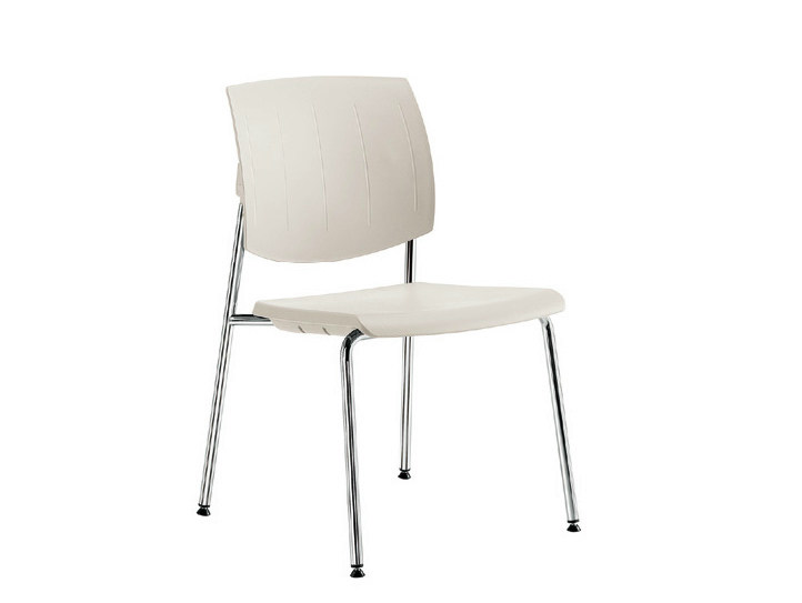 Polypropylene waiting room chair Q-44 | Waiting room chair by Sesta