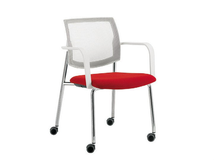 Visitor's chair with casters Q-44 | Chair with casters - Sesta