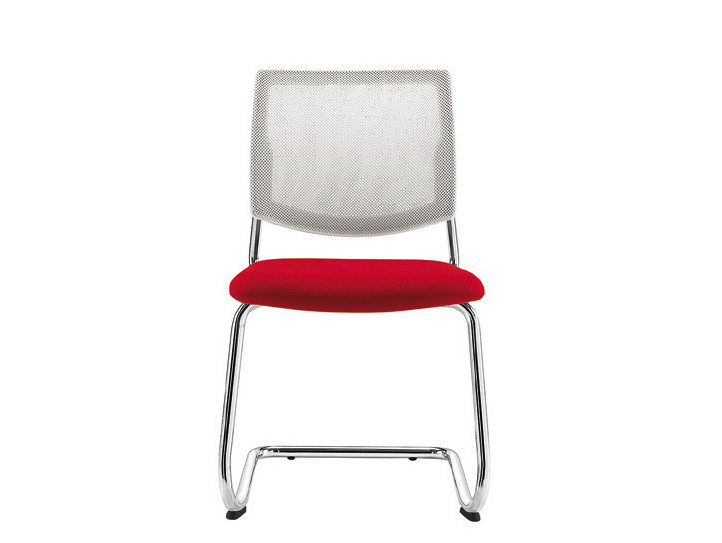 Cantilever mesh chair Q-44 | Cantilever chair by Sesta