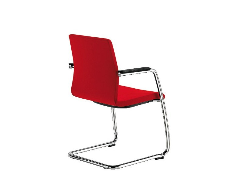 Cantilever chair with armrests MODE TC PLAIN | Cantilever chair by Sesta