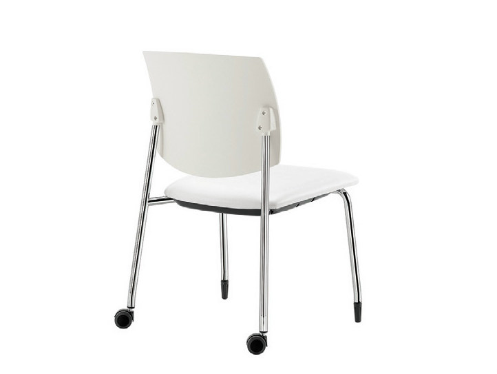 Polypropylene chair with casters Q-44 | Chair with casters - Sesta