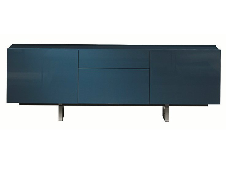 Lacquered sideboard with drawers and doors SQUARE | Lacquered sideboard - MisuraEmme