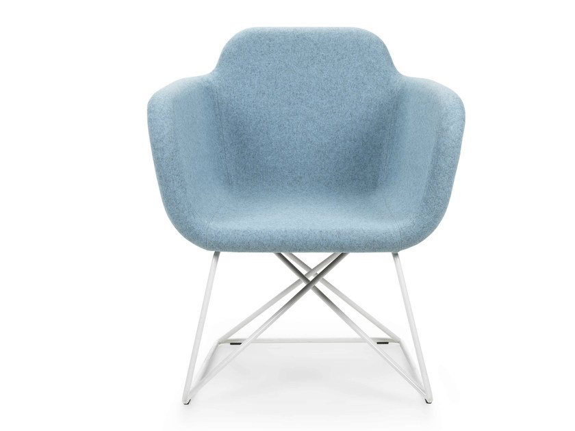 Upholstered easy chair with armrests SLIGHT   Easy chair - True Design