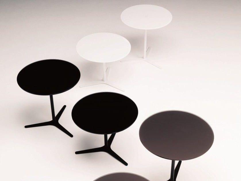 Tavolino basso da caffè in cristallo in stile moderno da salotto ...