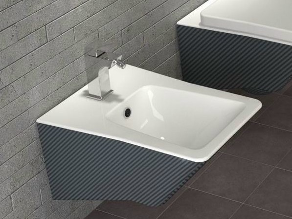 Bidet sospeso in porcellana serie mito carbon by stile for Architec bidet sospeso