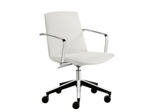 Swivel chair with 5-spoke base MODE SMALL | Swivel chair by Sesta