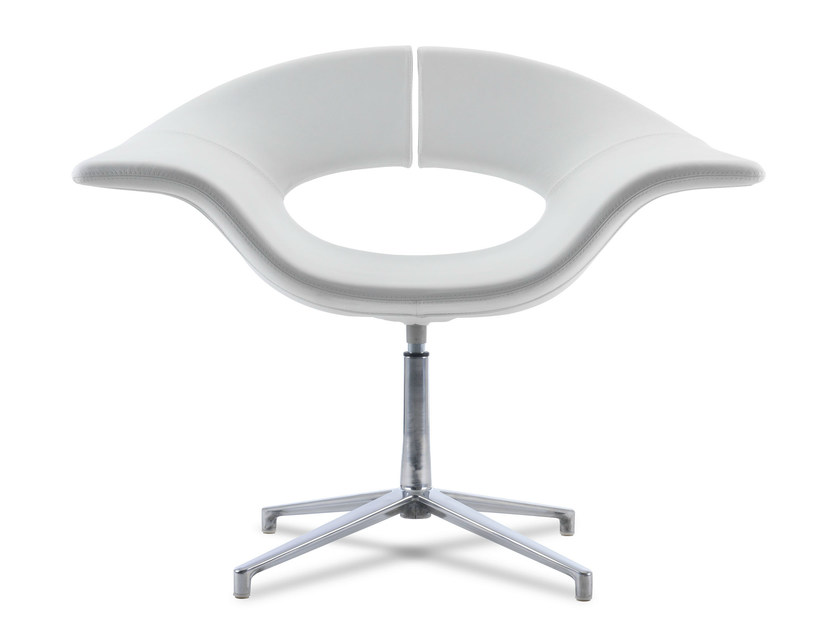 Swivel easy chair with 4-spoke base with armrests GEA | Easy chair with 4-spoke base by True Design
