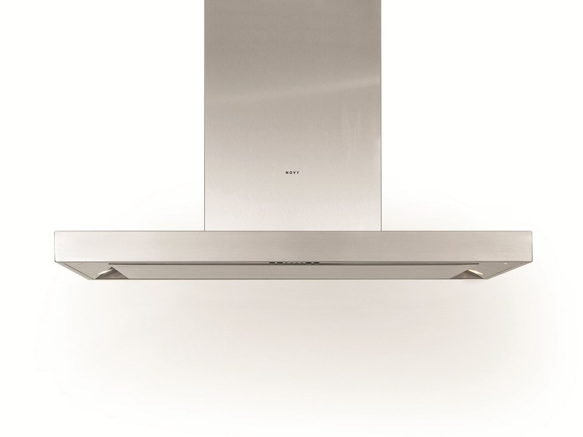 Island hood with integrated lighting 7640 FLAT'LINE - NOVY