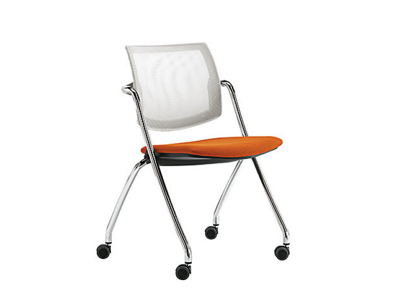 Mesh chair with casters Q-GO | Chair with casters - Sesta