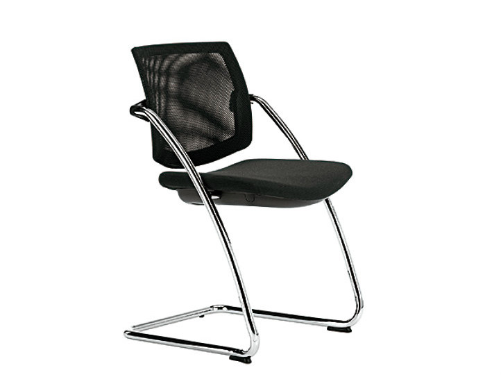 Cantilever mesh reception chair Q-EASY | Mesh chair - Sesta