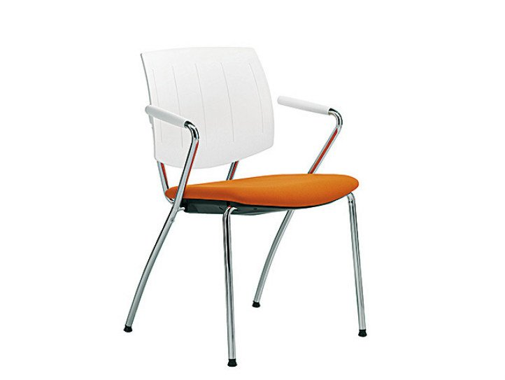 Reception chair with armrests Q-FOUR | Chair with armrests - Sesta
