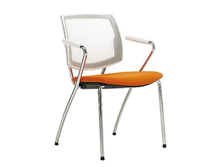 Mesh reception chair Q-FOUR | Mesh chair - Sesta