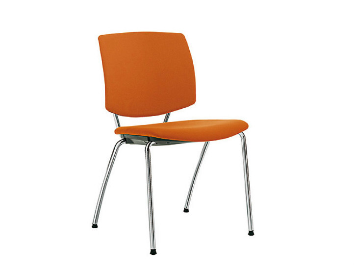 Fabric reception chair Q-FOUR | Reception chair - Sesta