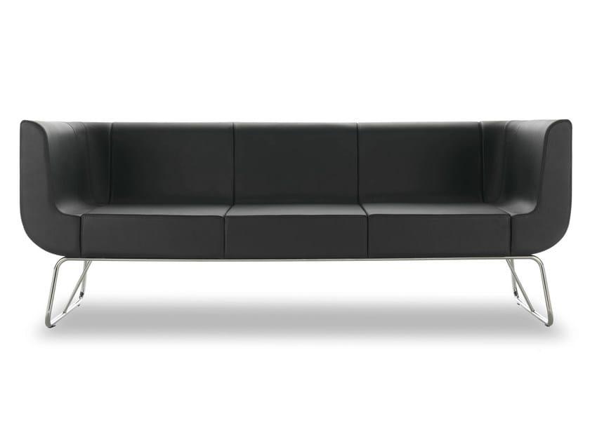 3 seater leather sofa EOS | 3 seater sofa - True Design