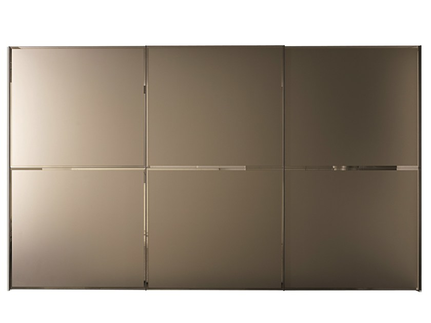 Etched glass wardrobe with sliding doors BRILLANTA | Wardrobe with sliding doors - MisuraEmme