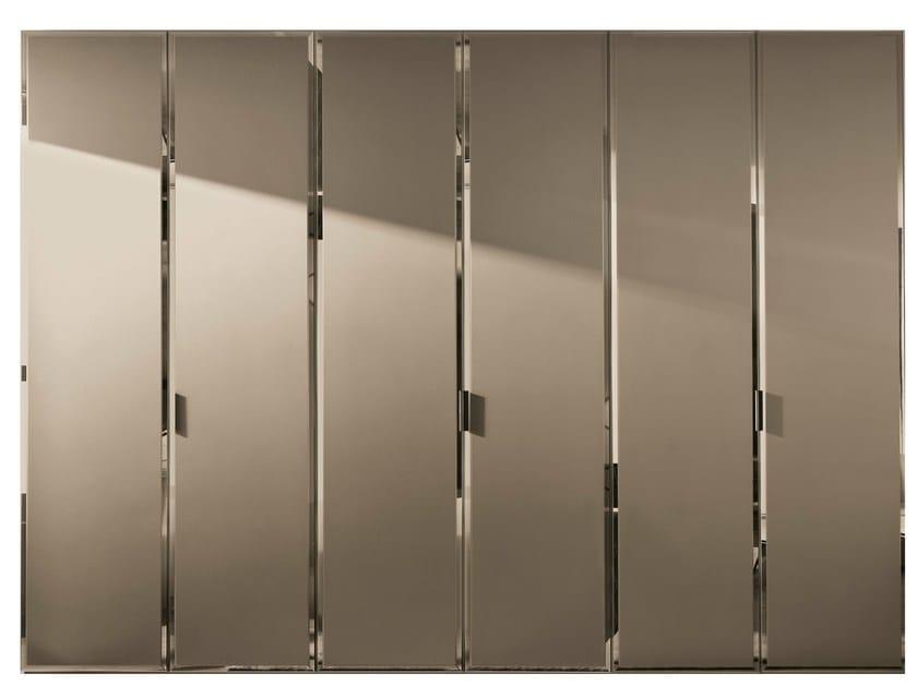 Etched glass wardrobe with 1 door custom BRILLANTA | Etched glass wardrobe - MisuraEmme