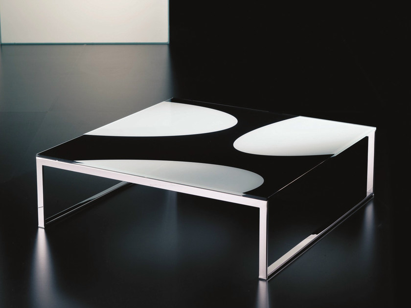 Crystal coffee table for living room HIPHOP | Square coffee table - Bontempi Casa