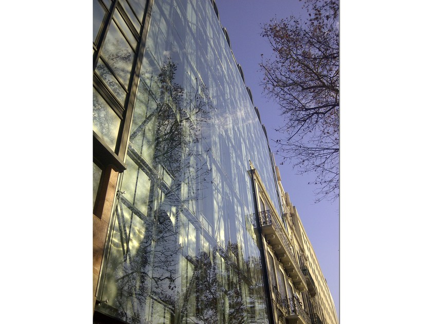 Continuous facade system FITECHNIC Glass Fitting MODEL 3 by Pentagonal