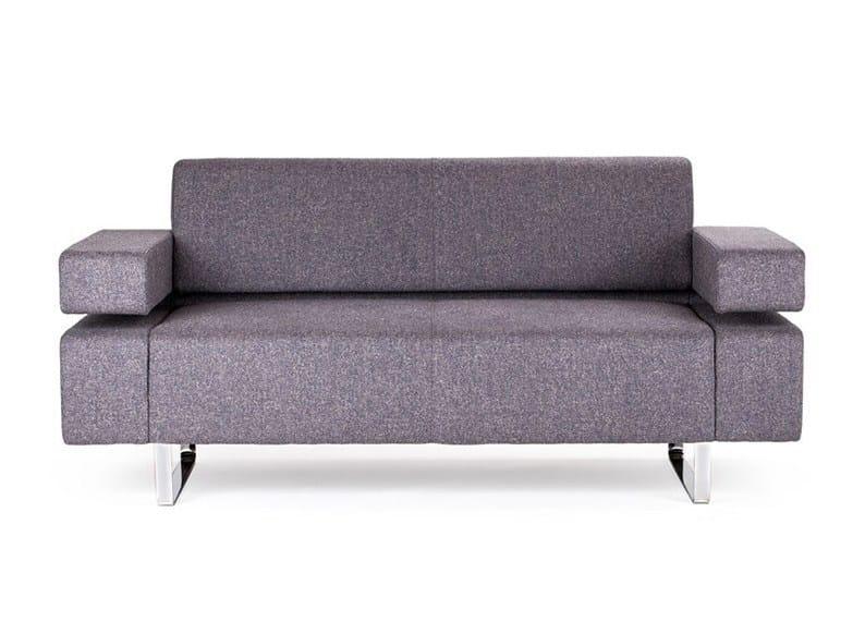 2 seater fabric sofa POSEIDONE MINI | 2 seater sofa - True Design