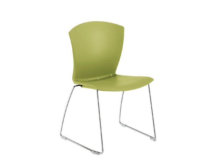 Sled base polypropylene chair CARINA SKID | Sled base chair - Sesta