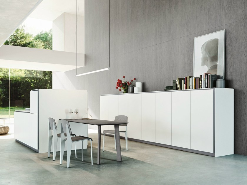 Kitchen With Island Elle By Snaidero Design Monica Armani