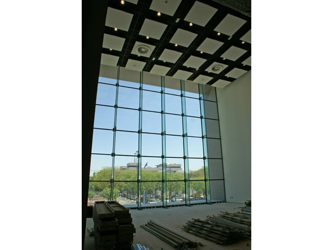 Structural glass facade FITECHNIC Glass Fitting FIRL System - Pentagonal