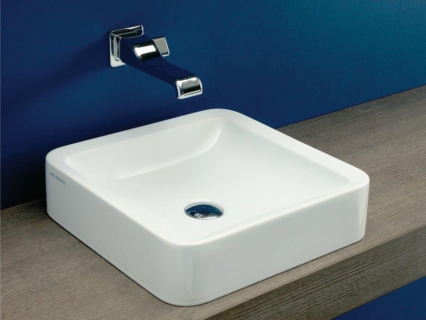 Design countertop square single ceramic washbasin NILE | Square washbasin - CERAMICA FLAMINIA