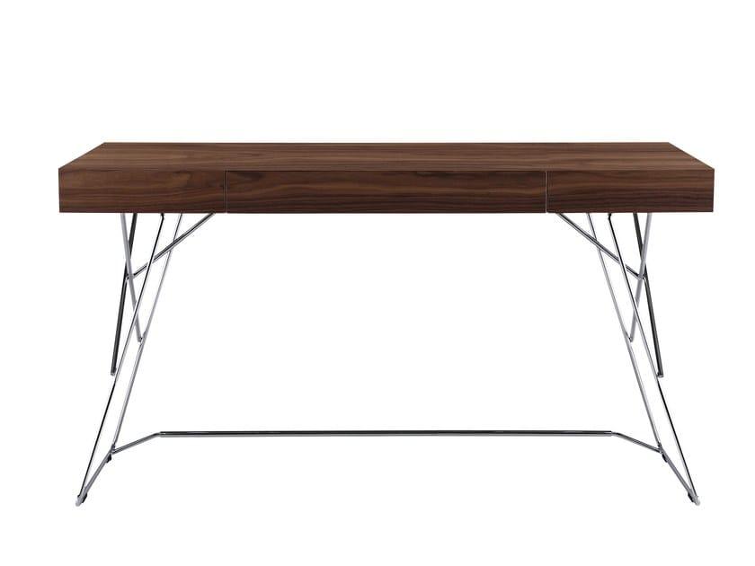 Wood veneer secretary desk MAESTRALE by Zanotta