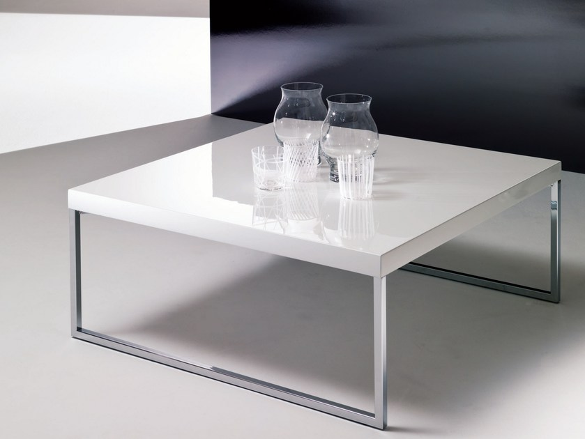 Lacquered coffee table for living room PLAZA | Coffee table for living room - Bontempi Casa