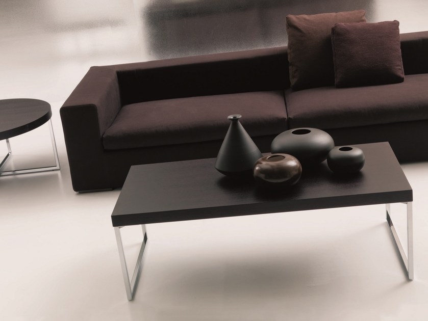 Low coffee table for living room PLAZA | Rectangular coffee table - Bontempi Casa