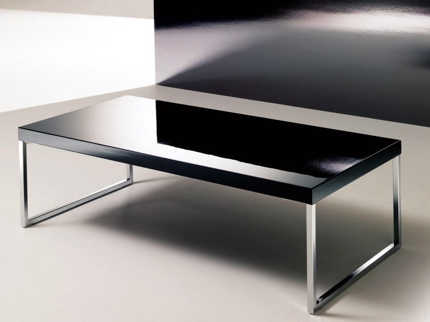 Low coffee table for living room PLAZA | Lacquered coffee table - Bontempi Casa