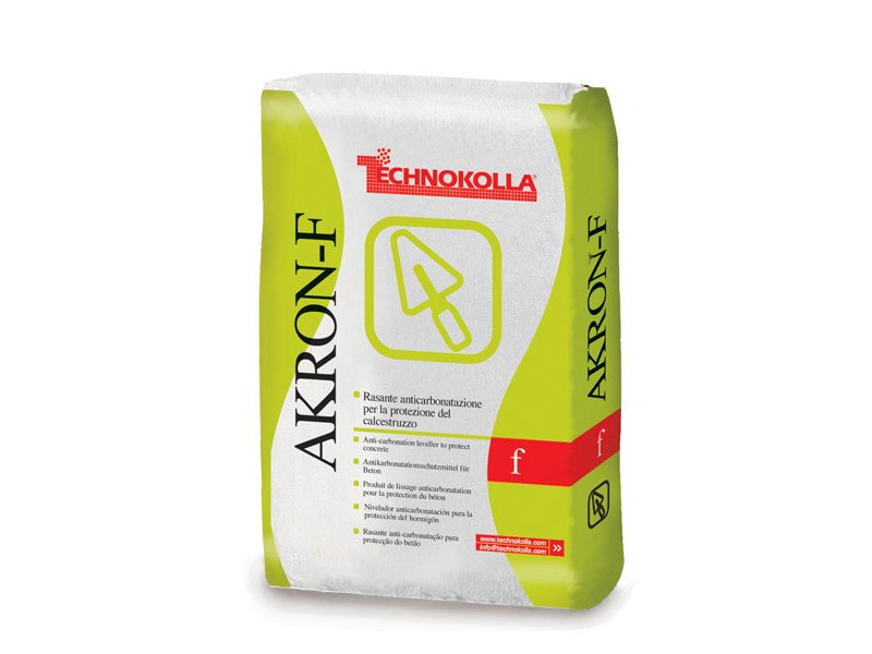 Skim coat and cementitious finish for plaster AKRON-F by TECHNOKOLLA - Sika