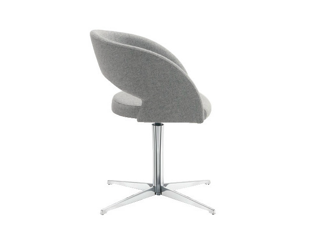 Easy chair with 4-spoke base with armrests LOLA | Easy chair with 4-spoke base - Sesta
