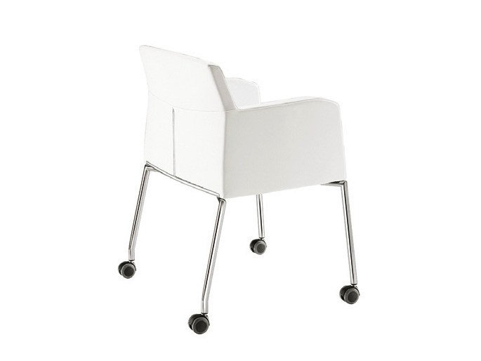 Fabric easy chair with casters ADA 3 | Easy chair with casters - Sesta