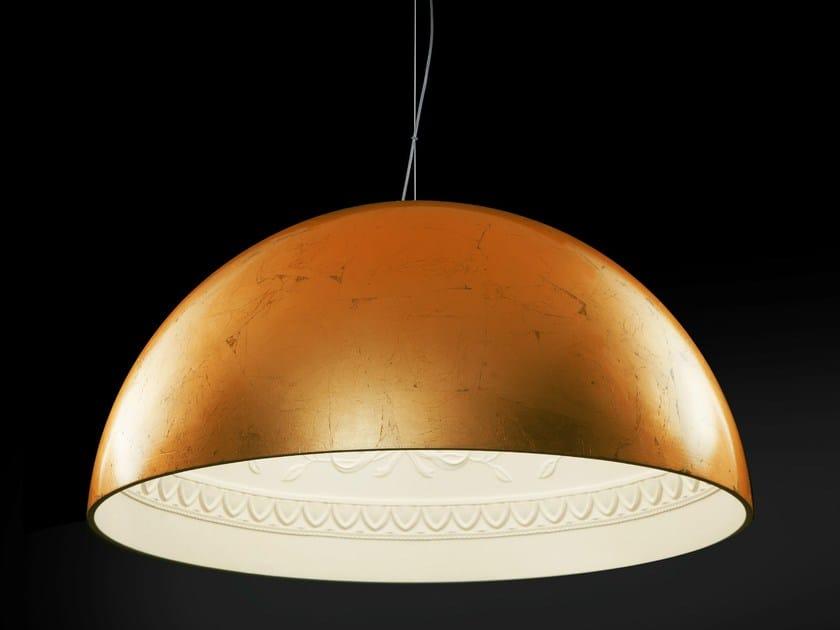 Copper leaf pendant lamp CHIARODÌ   Pendant lamp - Metal Lux di Baccega R. & C.