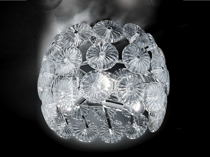 Crystal ceiling lamp STAR | Ceiling lamp - Metal Lux di Baccega R. & C.