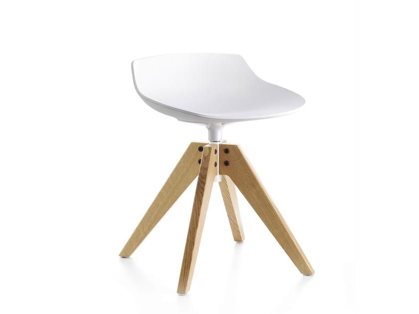 Swivel trestle-based stool FLOW STOOL | Trestle-based stool - MDF Italia