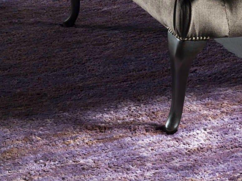 Solid-color handmade rectangular hemp rug TUNDRA CARPETS by EBRU