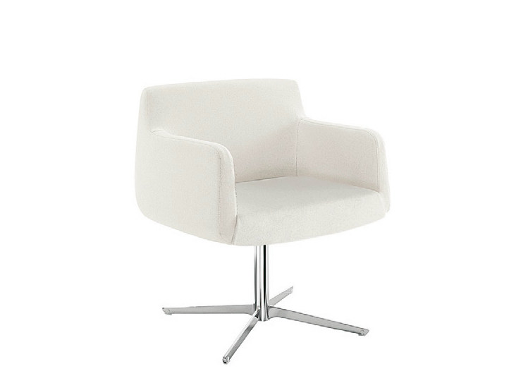 Upholstered easy chair with 4-spoke base ADA 4 | Easy chair with 4-spoke base - Sesta