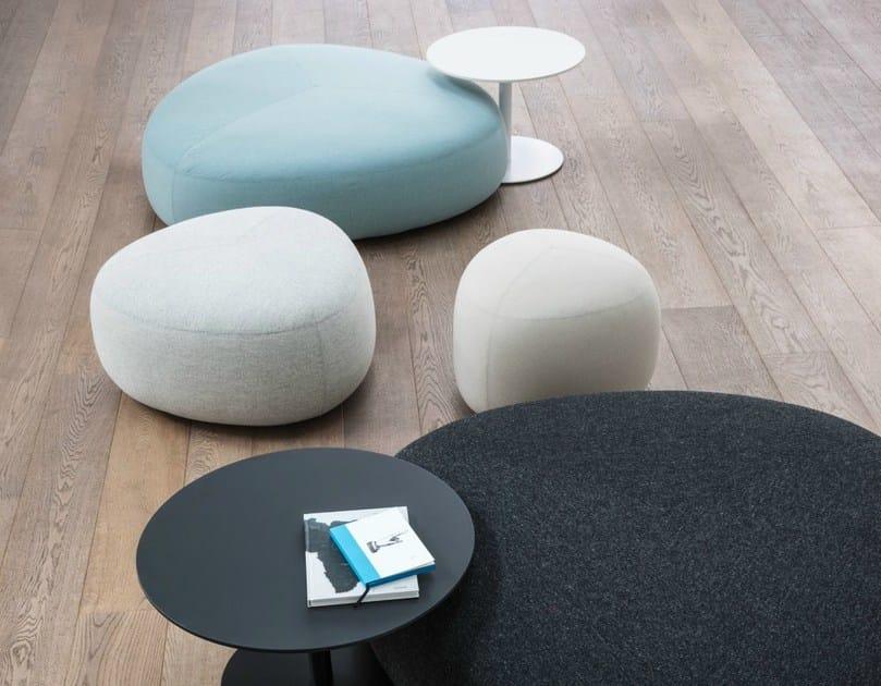 Upholstered fabric pouf KIPU by Lapalma