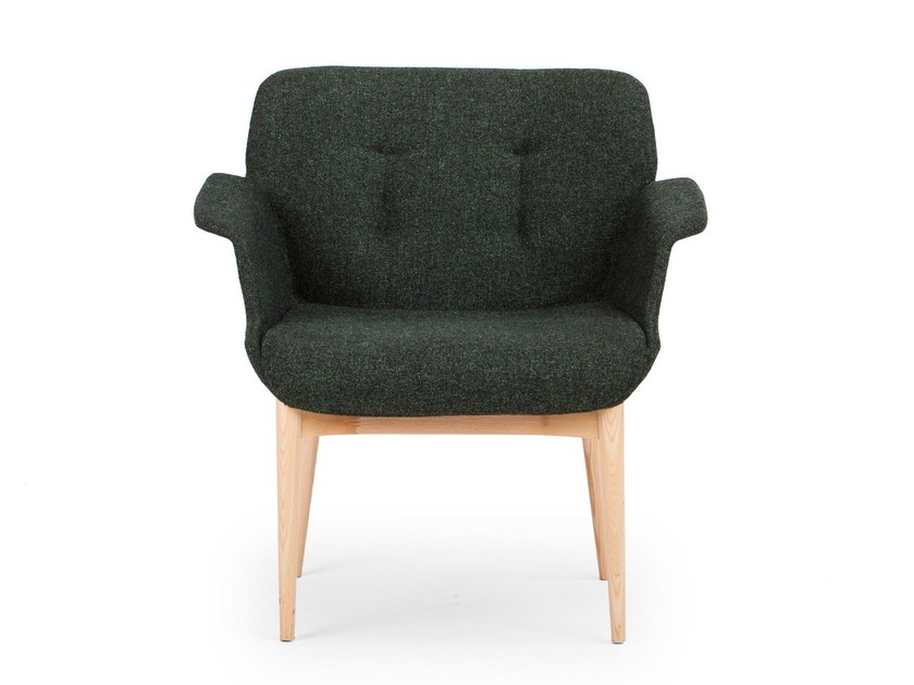 Fabric guest chair HIVE | Easy chair - True Design