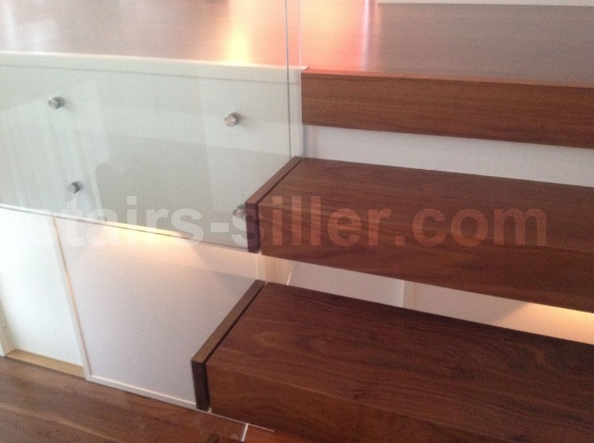 escalera volada en madera y vidrio europa escalera volada by siller treppen