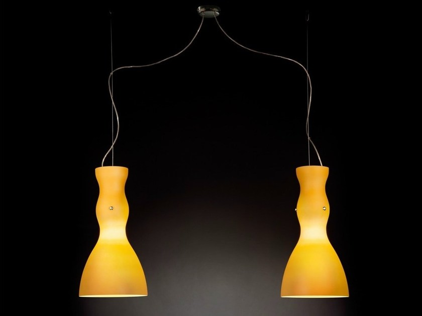 Stained glass pendant lamp SCHERZO | Pendant lamp by Metal Lux
