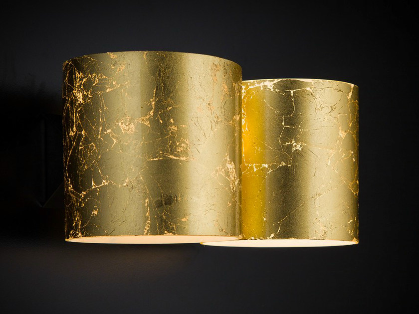 Gold leaf wall light BRICK | Wall light by Metal Lux
