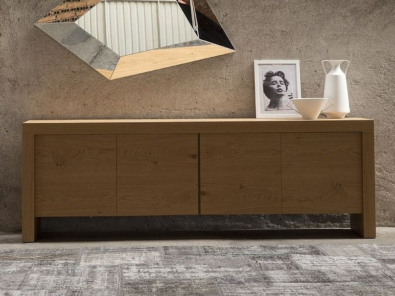 Modular sideboard with doors T-WOOD | Sideboard by RIFLESSI