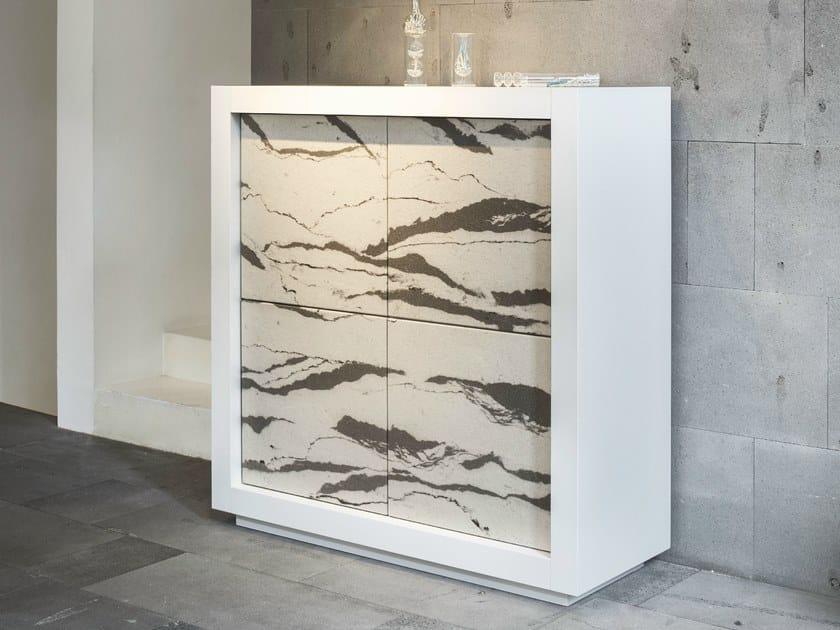 Highboard with doors PICASSO | Stone Door - RIFLESSI