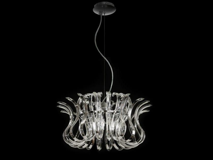 Crystal pendant lamp WAVE | Pendant lamp - Metal Lux di Baccega R. & C.