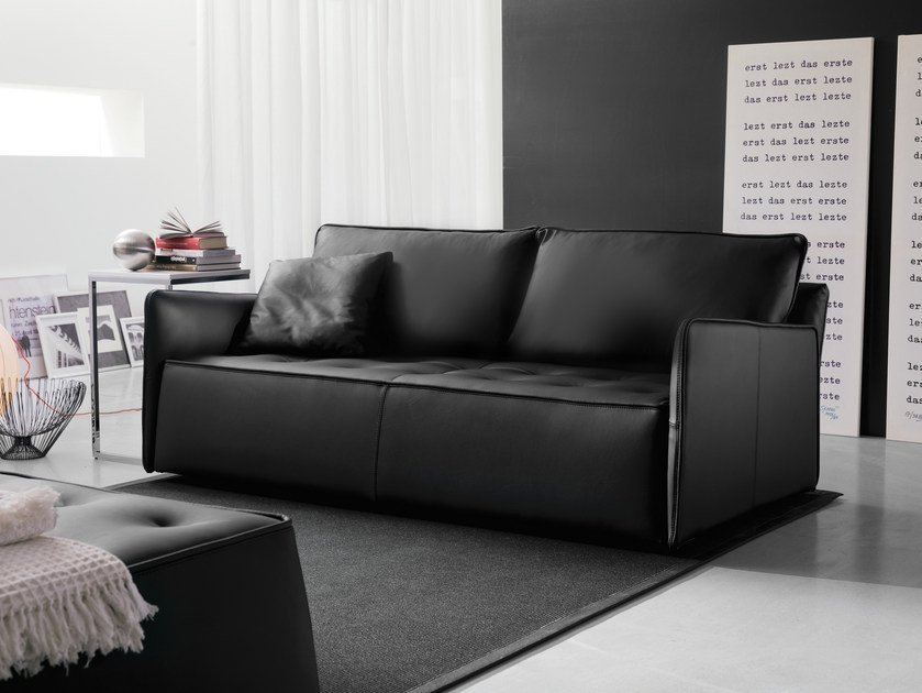 3 seater sofa ANTARES | Leather sofa - Bontempi Casa