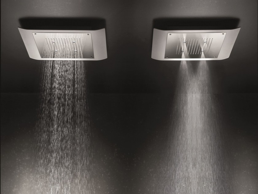 Ceiling mounted 2-spray rain shower MACÒ | 2-spray overhead shower - GEDA